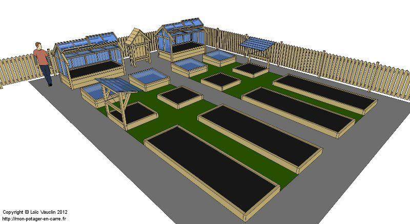 plan d 39 un potager en carr s id al pour 2 personnes potager pinterest raised bed herbs. Black Bedroom Furniture Sets. Home Design Ideas