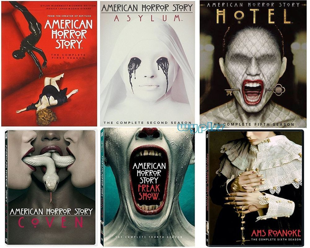 American Horror Story Complete Series Season 1 6 Dvd 23 Disc Set 1 2 3 4 5 American Horror Story Seasons American Horror Story Freak American Horror Story