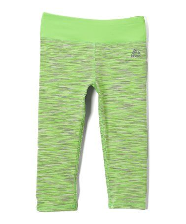 Another great find on #zulily! Neon Green Performance Space Dye Leggings - Girls #zulilyfinds
