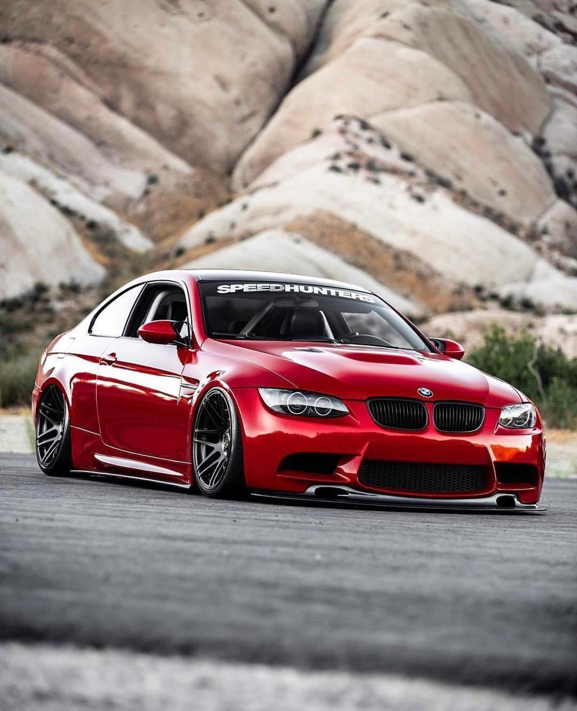 Bmw E92 M3 Red Slammed Speedhunters Custom Bmw Bmw Cars Bmw Wheels