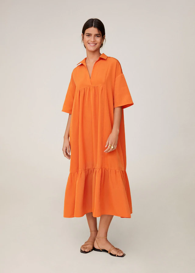 Midi Boy Gomlek Elbise Kadin Mango Turkiye In 2020 Womens Dresses Midi Shirt Dress Shirt Dress