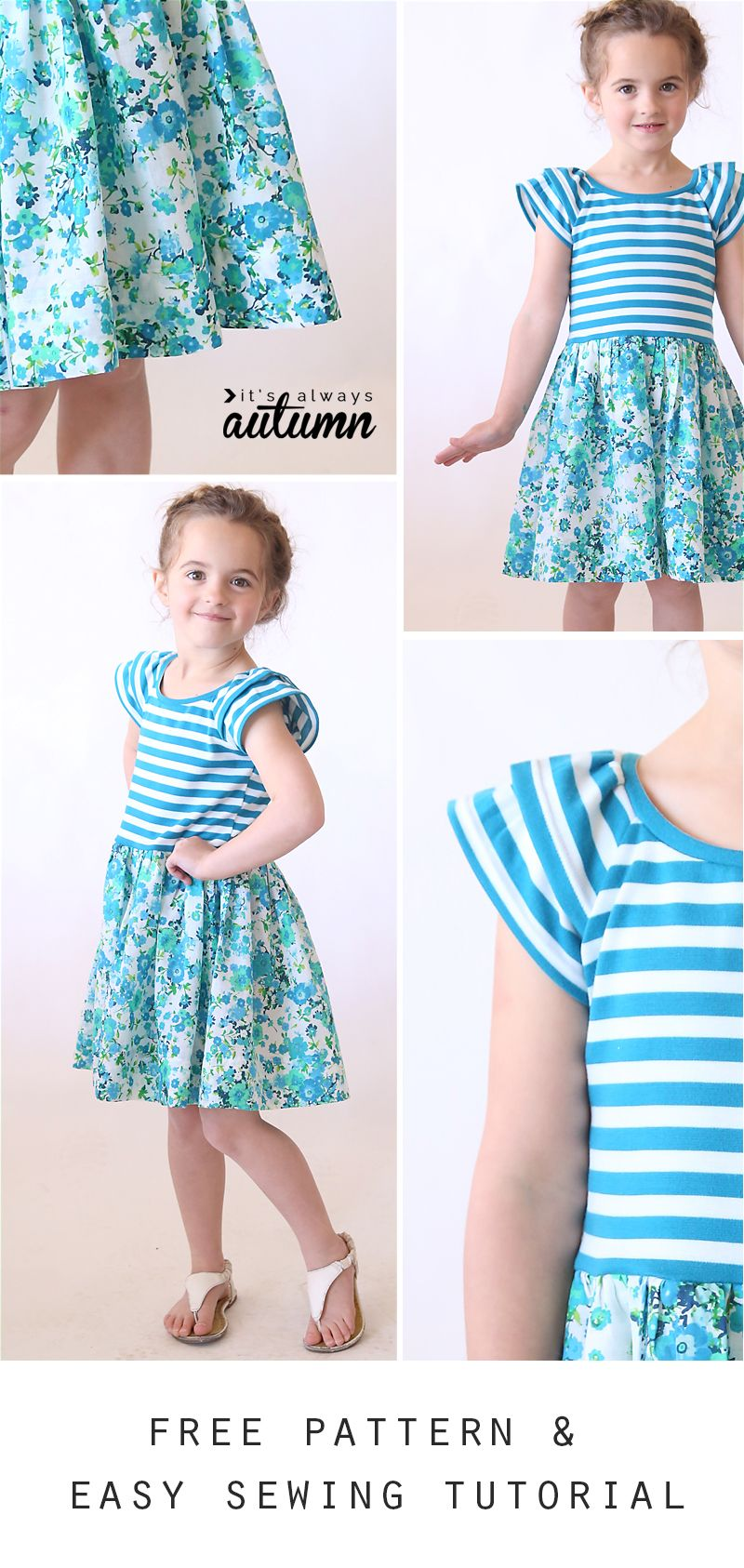 The hello spring girls dress free printable girls dresses free printable pdf pattern for this easy to sew girls dress or jeuxipadfo Gallery