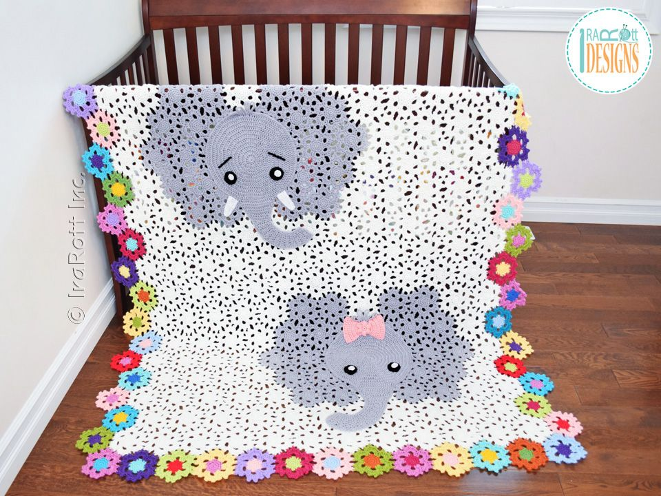 Crochet pattern PDF by IraRott for making an adorable elephant baby ...