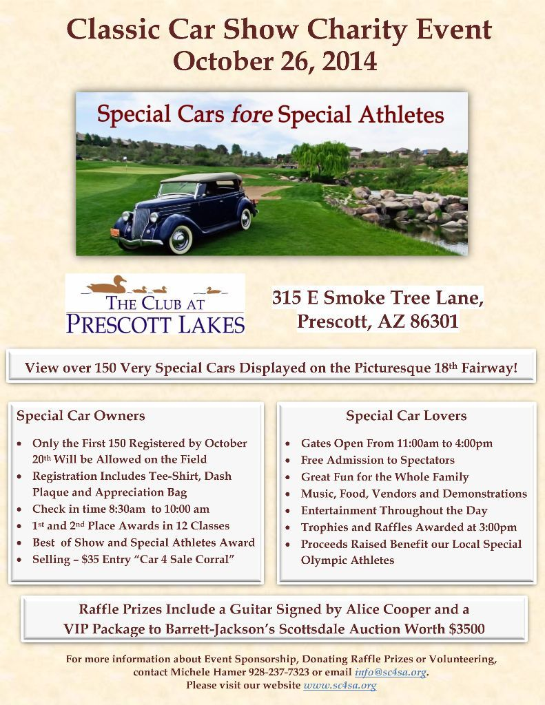 Special Cars fore Special Athletes is a classic car charity