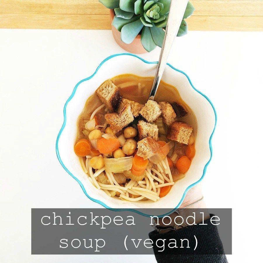 Chickpea Noodle Soup #chickpeanoodlesoup Vegan Chickpea Noodle Soup | The Friendly Fig #chickpeanoodlesoup Chickpea Noodle Soup #chickpeanoodlesoup Vegan Chickpea Noodle Soup | The Friendly Fig #chickpeanoodlesoup