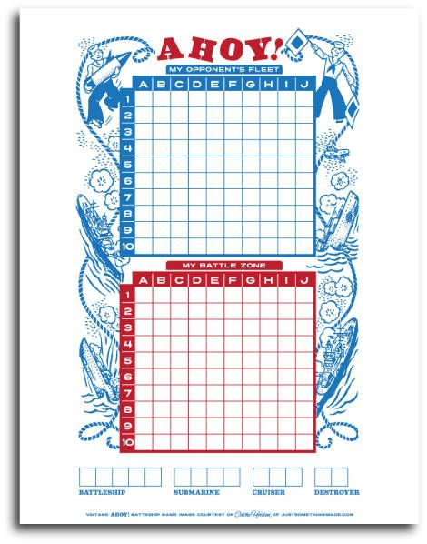 Printable Activities  Battleship Gaming And Free Printable