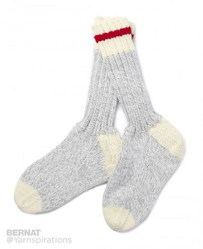 Chunky Work Socks pattern by Yarnspirations Design Studio ...