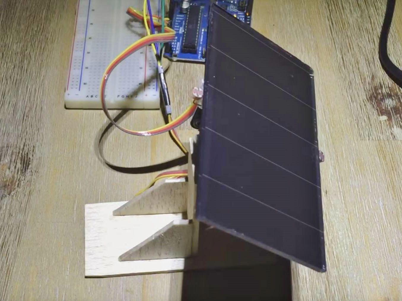 Arduino solar tracker single or dual axis solar power