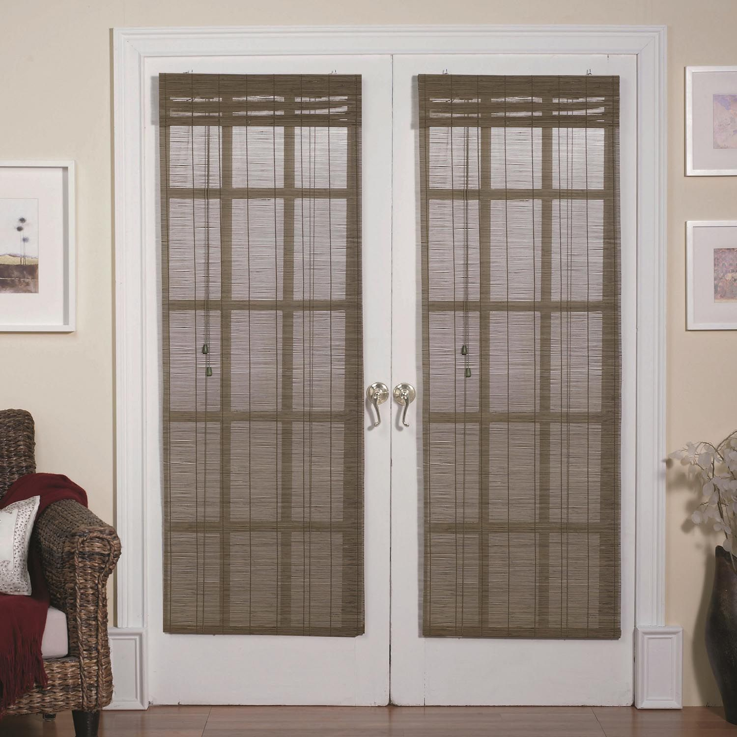 Magnetic roman shades for french doors window shades for Door window shades blinds