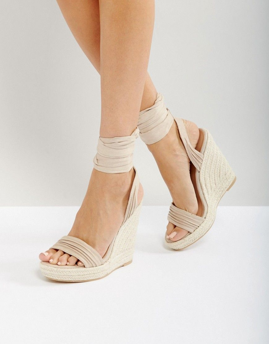 4554e087ad38 ... cheap prices. Call It Spring Cadoilla Nude Espadrille Ankle Tie Sandals  - Beige