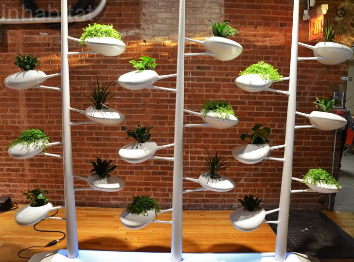 Self Watering Indoor Planters Part - 36: Danielle Trofeu0027s Live Screen Is A Self-Watering Wall Built For Indoor Plants