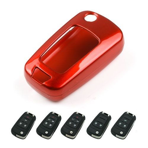Keyless Entry Remote Key Fob Case Holder Red Cover For Gmc Chevy
