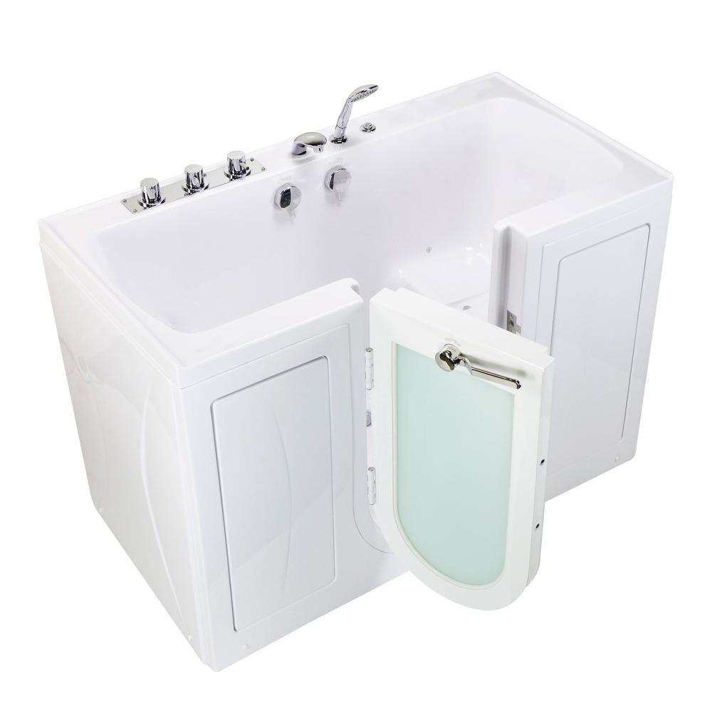 Ella Tub4two 60 In Acrylic Walk In Air Bath Bathtub In White