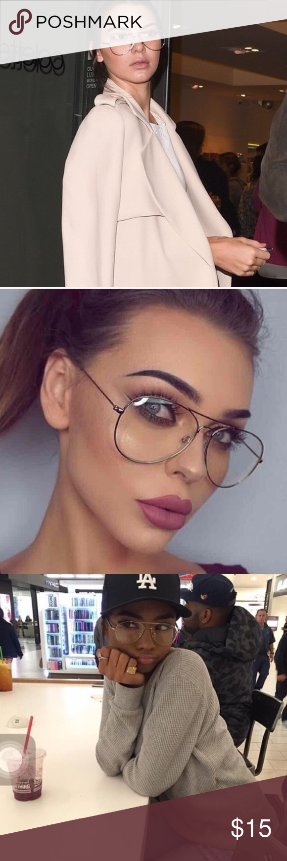 d1a7fbdd6f Clear aviator eye glasses non prescription Trendy aviator glasses NWT  boutique brand Accessories Glasses