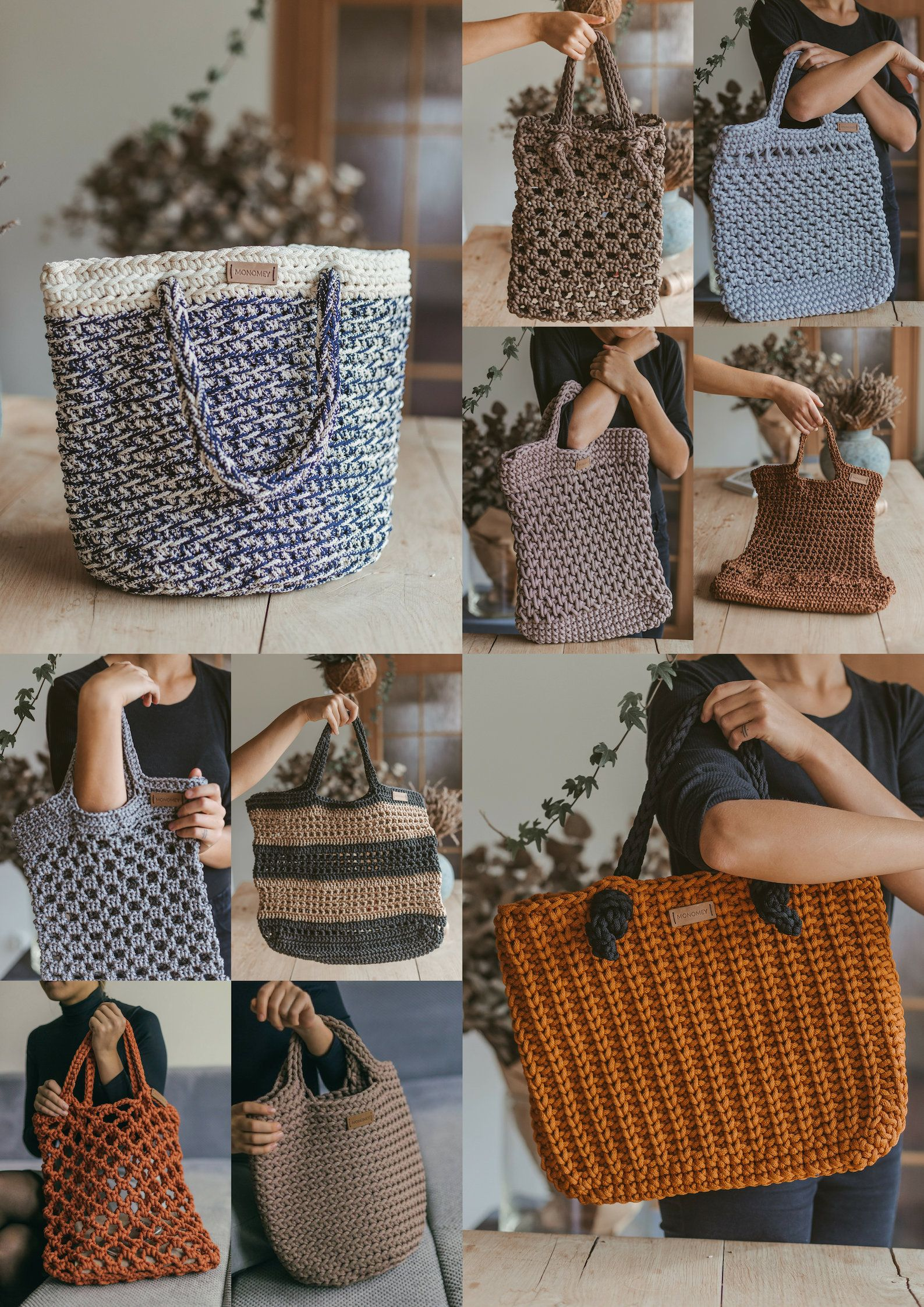 Crochet Pattern Book Crochet Tote Pattern Crochet Handbag Pattern