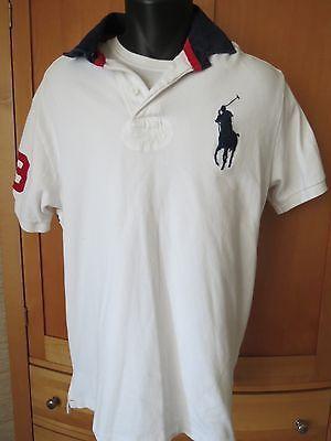 Vtg Polo Ralph Lauren Polo Shirt Big Pony Logo 3 Large Multi Color