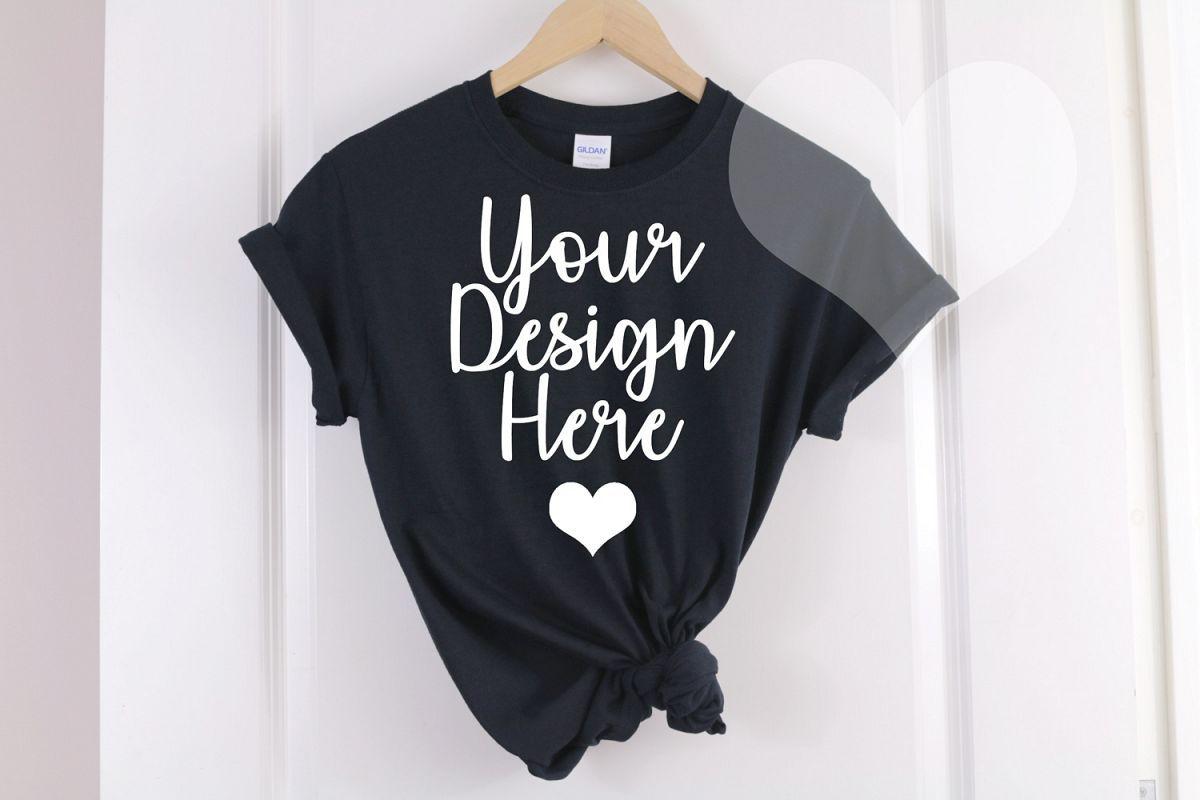 Download Black Gildan 500 T Shirt Unisex Hanging Mockup 246586 Mockups Design Bundles Clothing Mockup Shirt Mockup Mockup Design