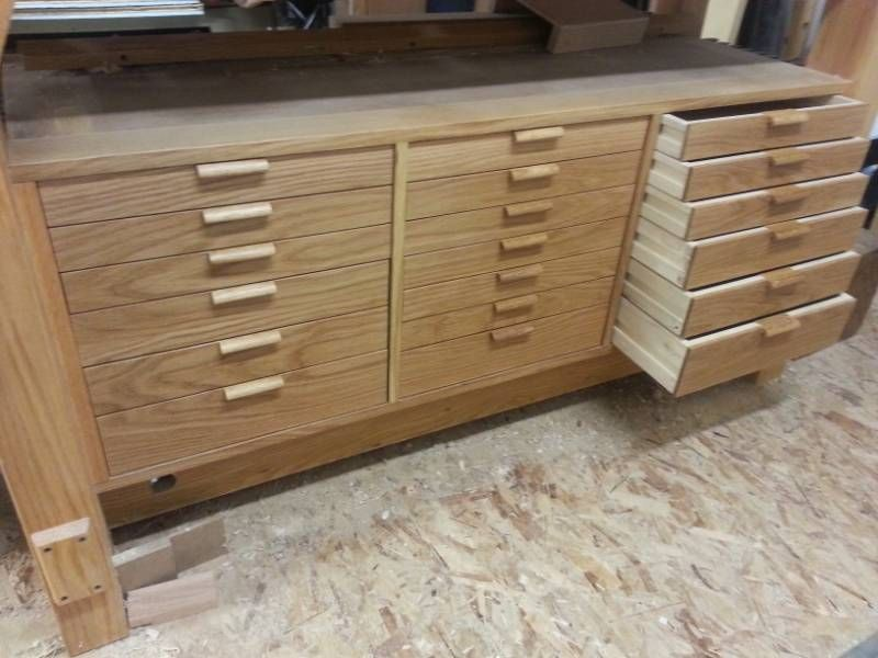 Workbench drawers finally done! Workbench with drawers