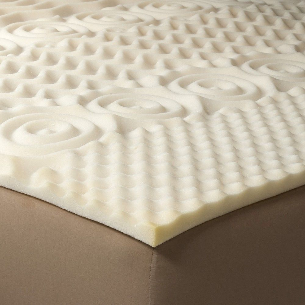 Einfaches duplex-hausdesign comfy foam mattress topper  full  room essentials beige in