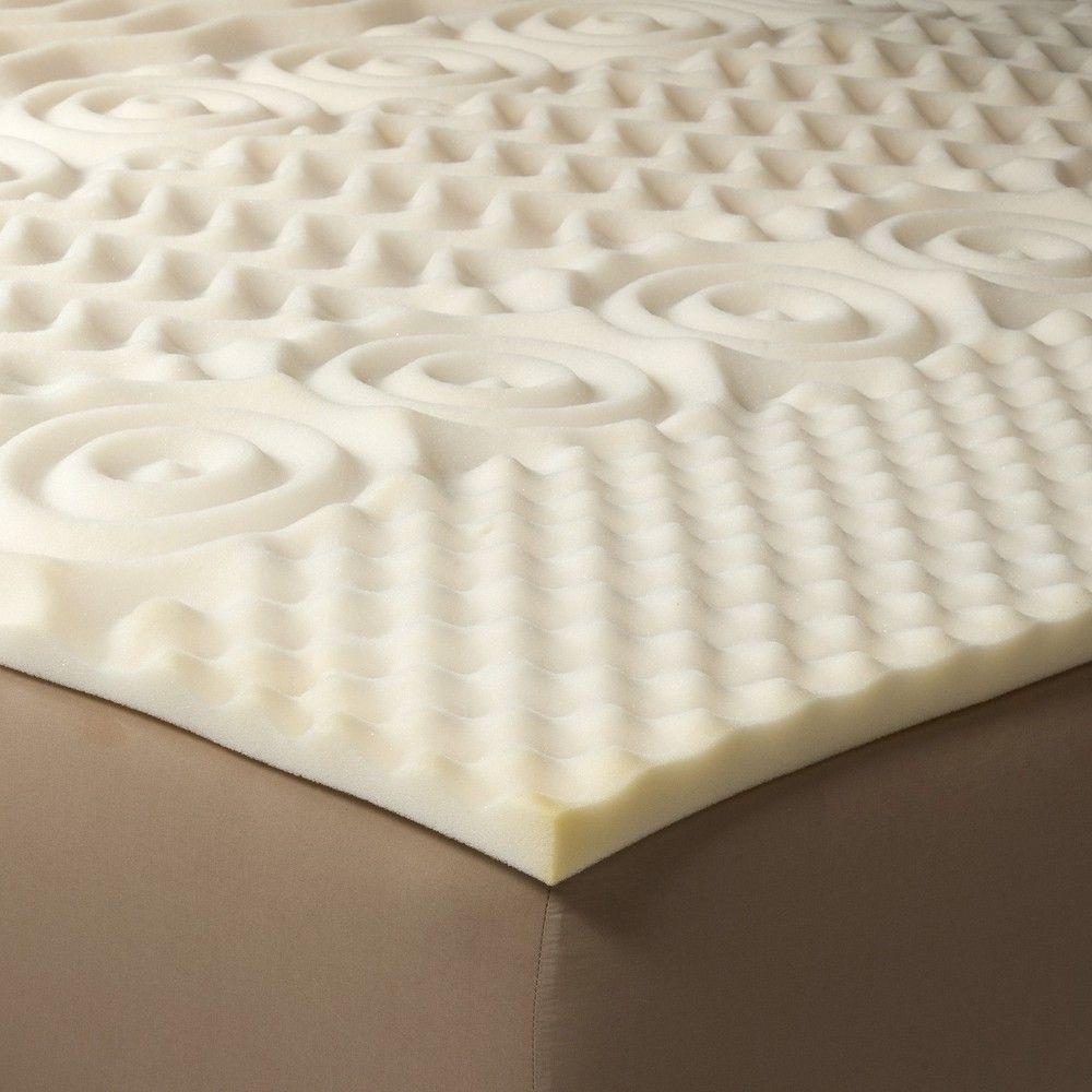 Comfy Foam Mattress Topper  Full  Room Essentials Beige in