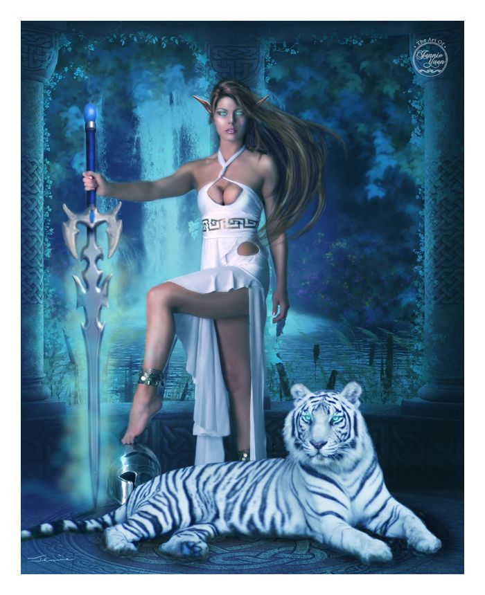 Hunter & Pet Tiger Night version (by Jennie Yuen