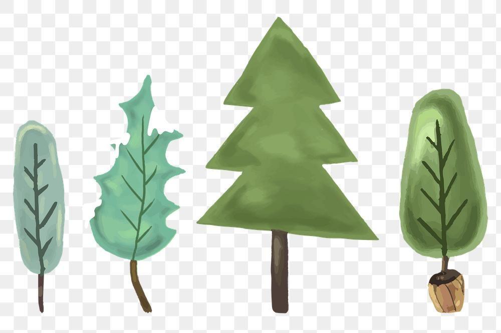 Cute Pine Tree Set Transparent Png Premium Image By Rawpixel Com Macc Christmas Tree Set Tree Free Png