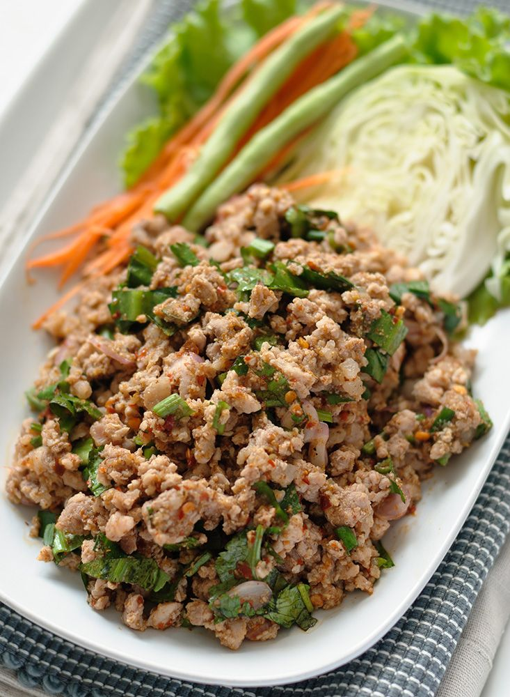 Authentic Thai cooking with downloadable recipe for Thai laab namtok