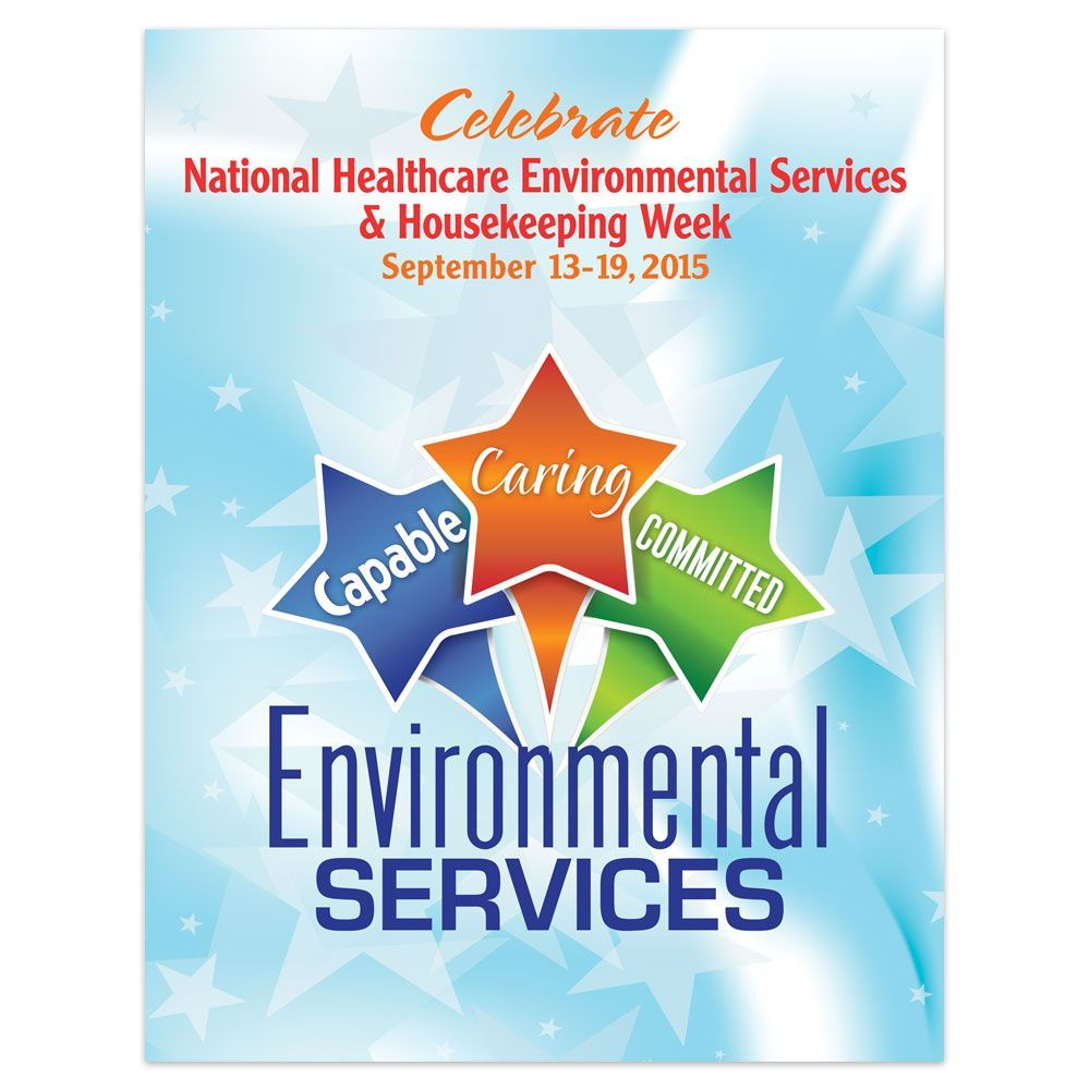 Environmental Services Capable Caring Committed Poster