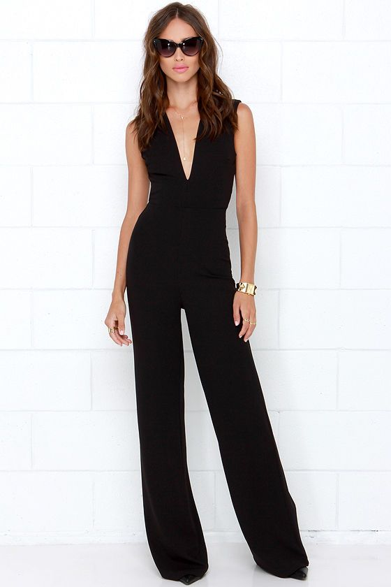 9ff440ae9ead Thinking Out Loud Black Backless Jumpsuit