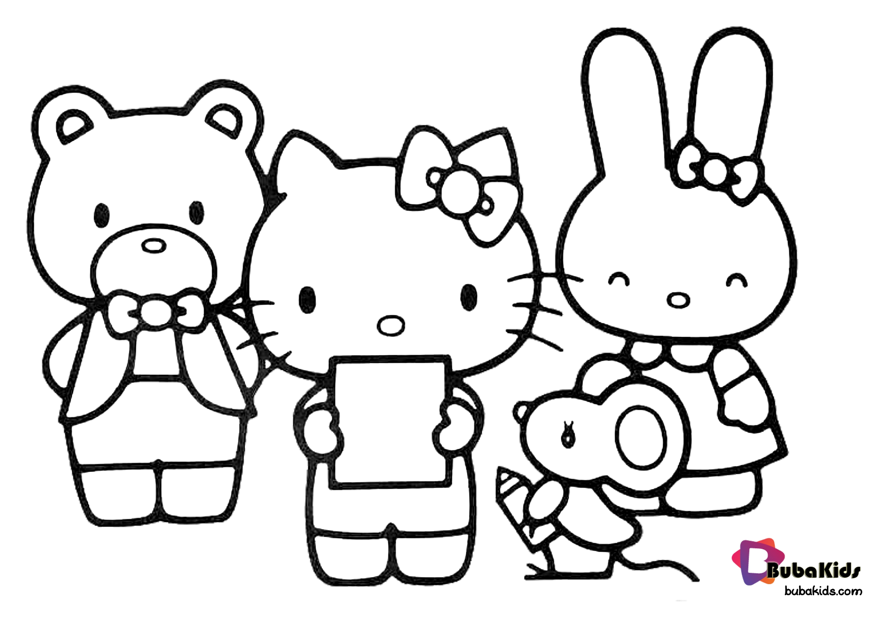 Hello Kitty And Friends Coloring Picture Collection Of Hello Kitty Coloring Pages For Teenage Pr Hello Kitty Hello Kitty Coloring Hello Kitty Colouring Pages