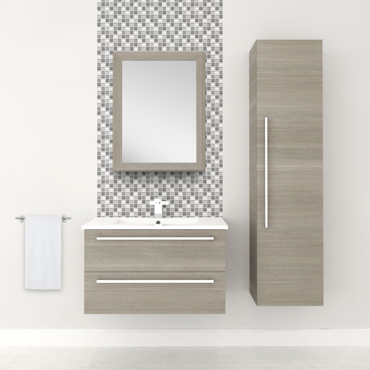 cutler kitchen & bath silhouette collection 30-in wall hung vanity