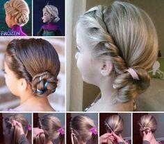 Das Haarstyling Von Der Krönung Elsas Die Eiskönigin Frisuren