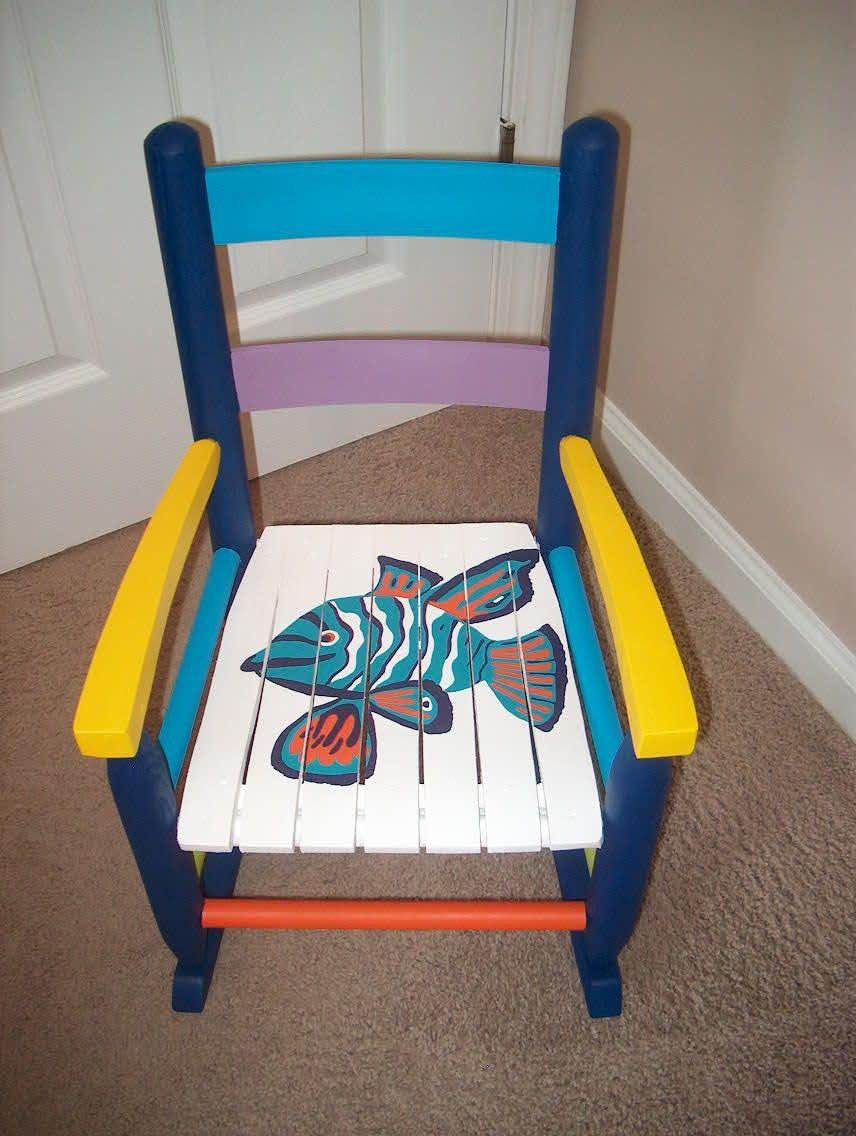 Funky painted furniture ideas - Funky Hand Painted Furniture Furniture Tropical Hand Painted Wood Beach Kid Navy