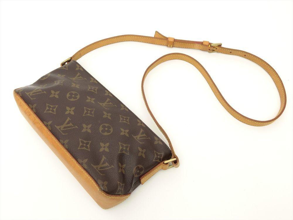 66f673cb49c Louis Vuitton Authentic Monogram Trotteur Cross body Shoulder Bag Auth LV