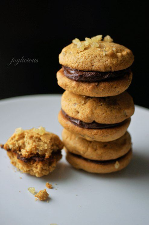 Candied Ginger Cookies with Dark Chocolate Ganache Recipe