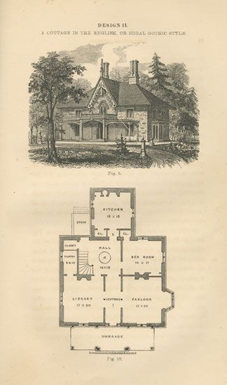 Gothic Revival An Alternative Trend For Victorian Americans Vintage House Plans Historic Preservation Architecture House Plans