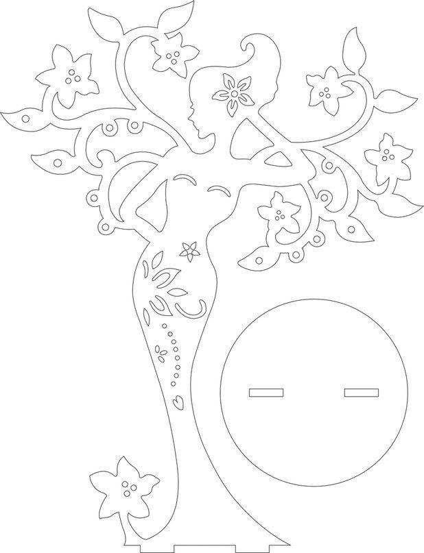 Diy Woman Silhouette Free Paper Craft Stenciltemplatepattern