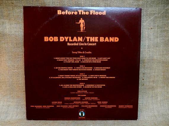 Bob Dylan The Band 1974 Vintage Vinyl 2 Lp Gatefold Record Bob Dylan Track Song American Songs