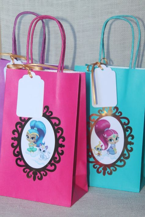 Shimmer and Shine inspired party, Shimmer and Shine favor bags, Set ...