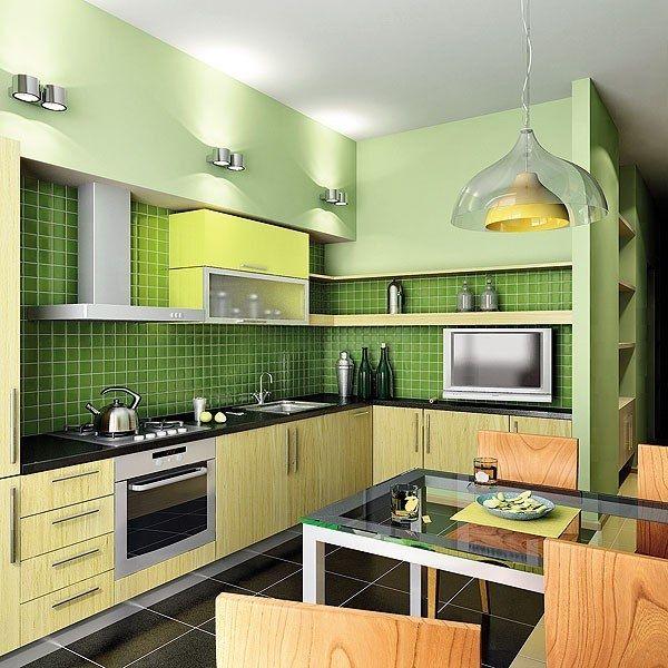 Сатиновый натяжной потолок в кухню 7,5