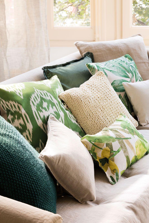 cojines para sofa tonos beige rustico