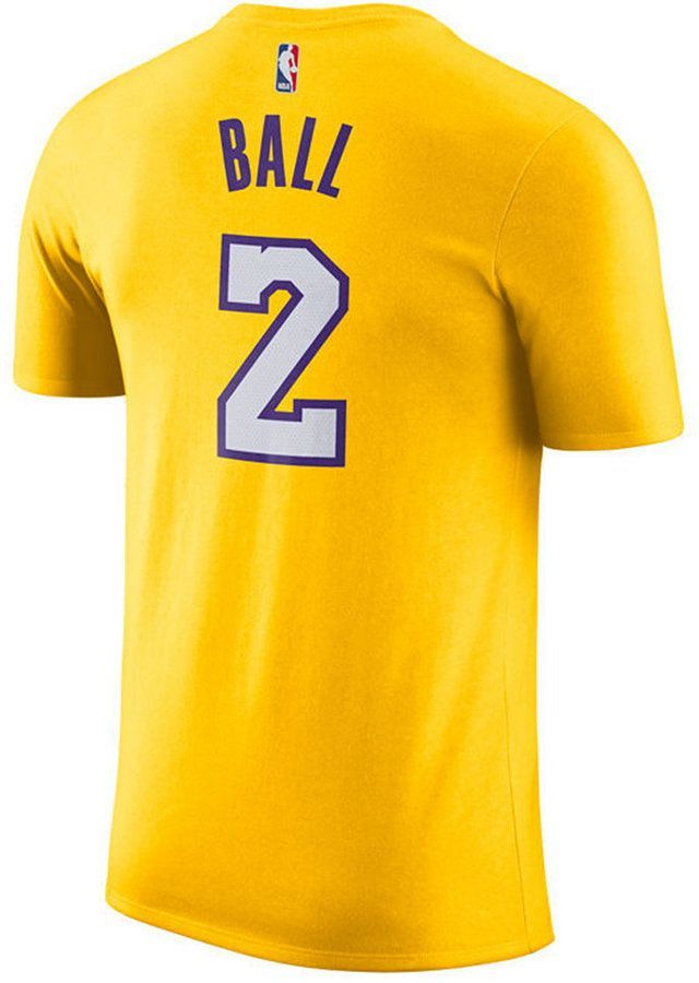 a770d6c0 Nike Men Lonzo Ball Los Angeles Lakers Name & Number Player T-Shirt ...