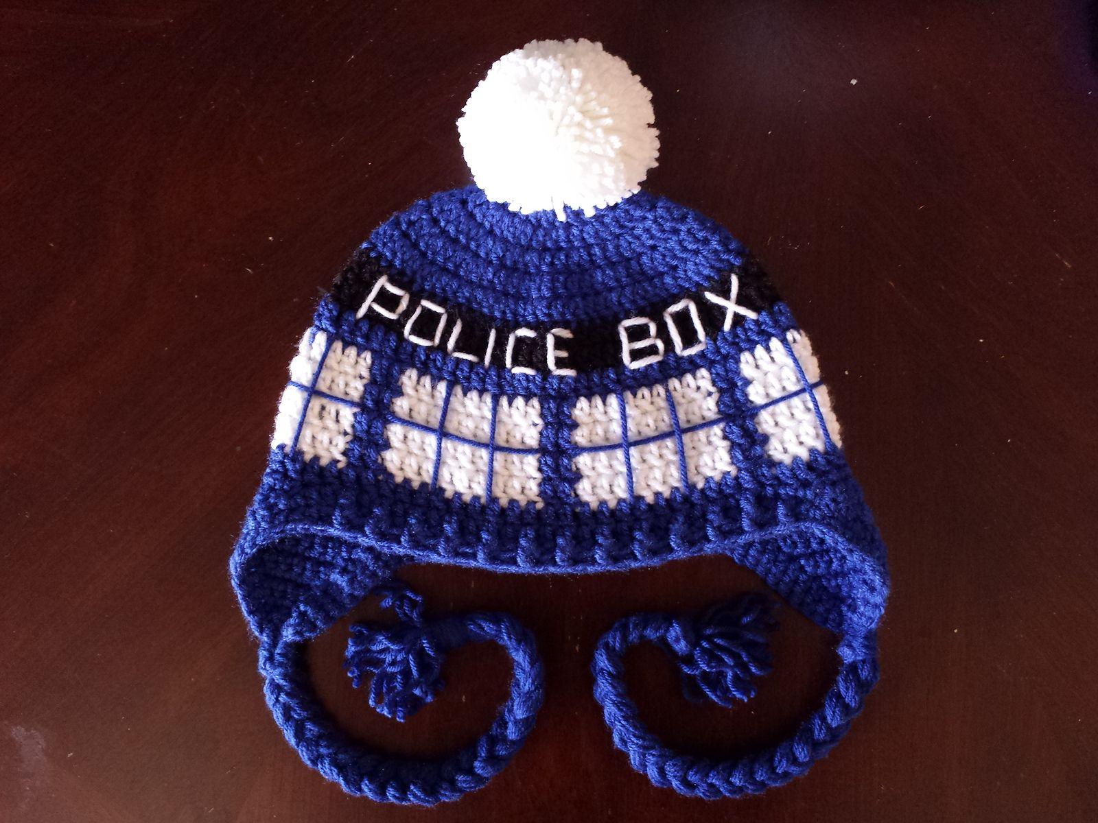 Ravelry: Crochet TARDIS Hat pattern by Acquanetta Ferguson | crochet ...