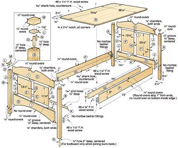 Childrens Bed Plans Free Parts Diagram Wood Work Tutorials