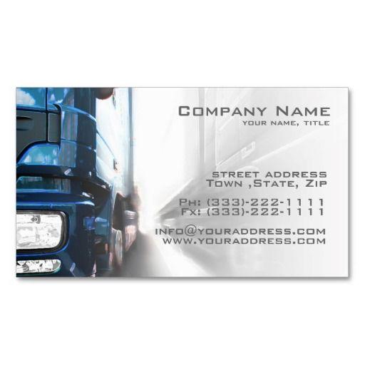 Truck Transportation Logistics Business Card