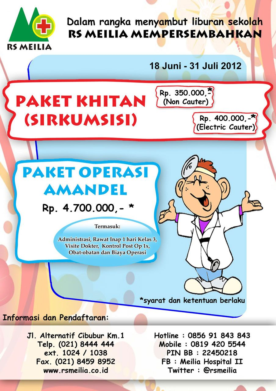 Paket Khitan (Sirkumsisi) & Operasi Amandel