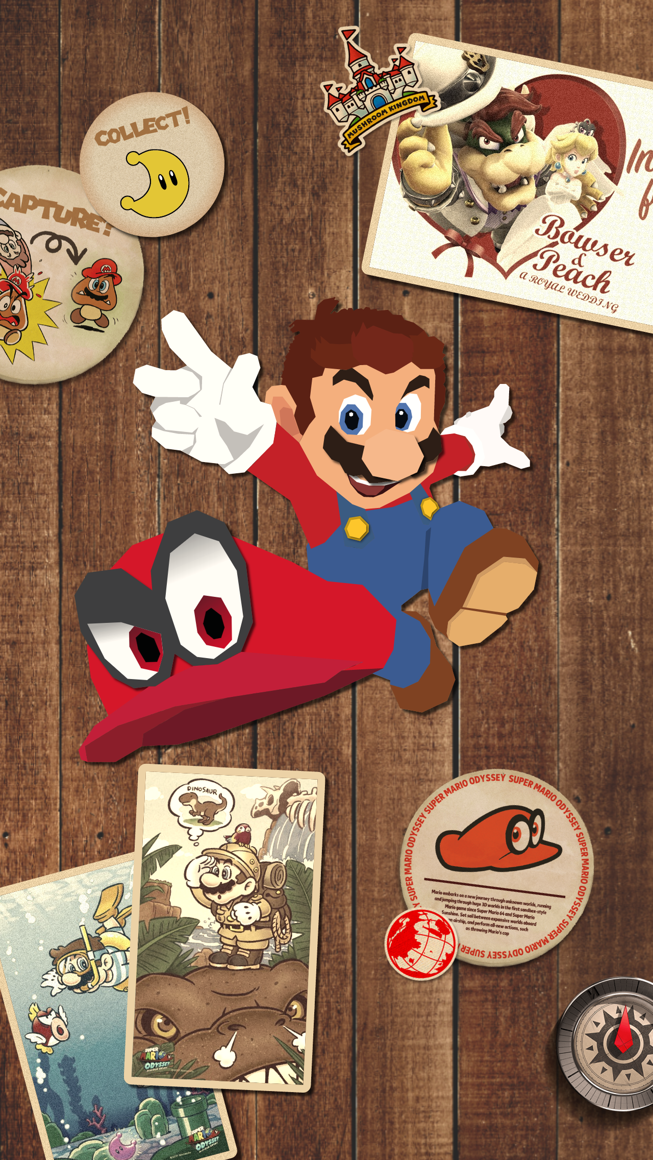 I made a Super Mario Odyssey wallpaper with the style from