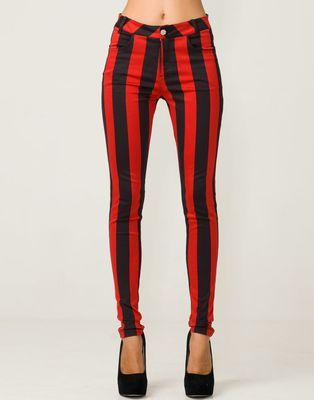 red black skinny jeans - Jean Yu Beauty