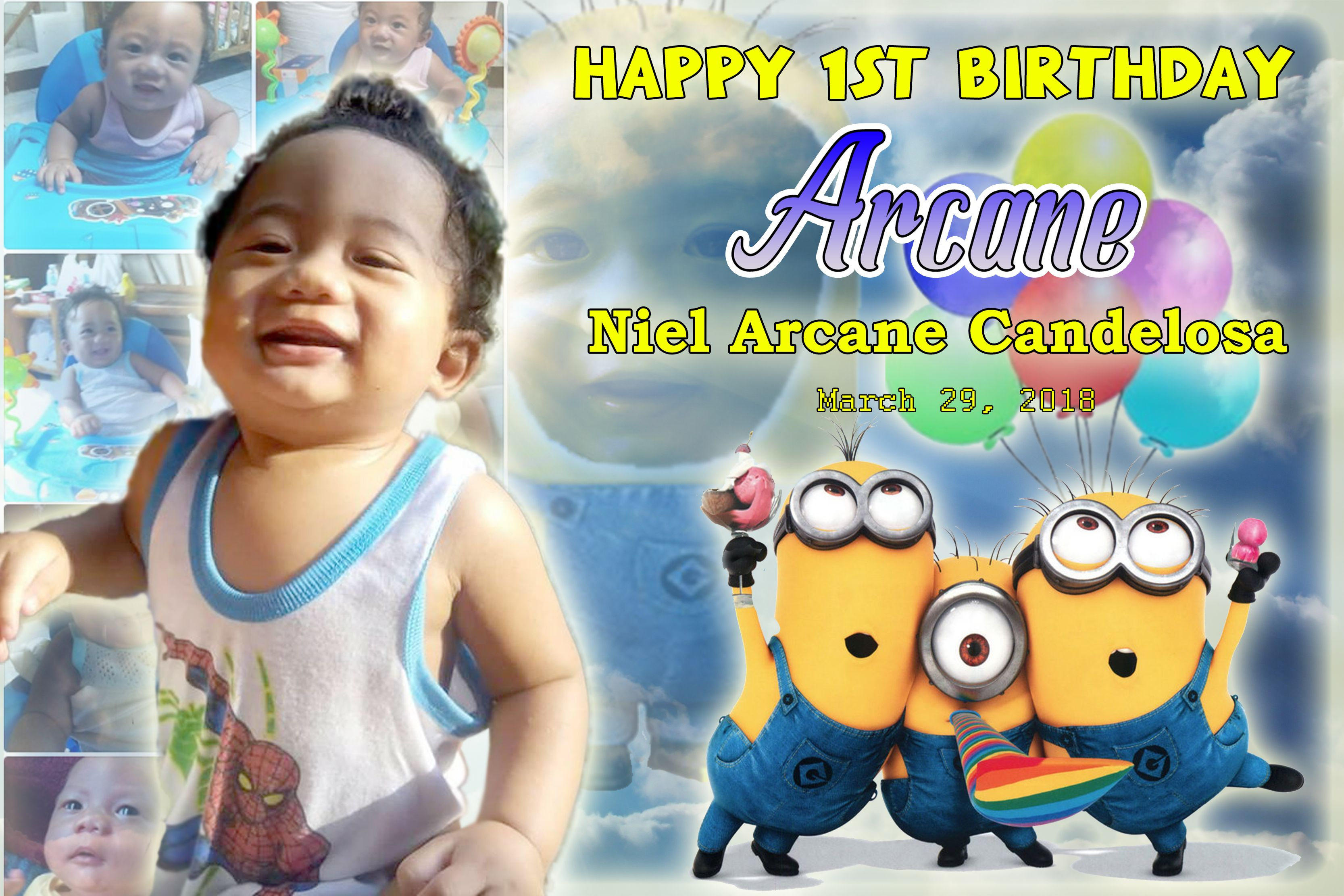 Minions Tarp Design For Birthday Birthday Design Happy 1st