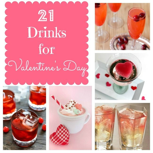 21 valentine's day drinks - both alcoholic & non-alcoholic | crazy, Ideas